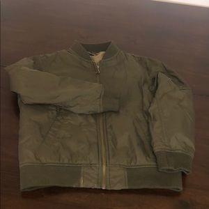 Uniqlo Boy's Dark Green Bomber Jacket Size 7-8